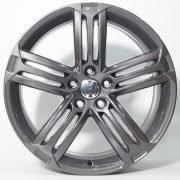 VW Felge in Grau pulverbeschichtet - Frontalansicht