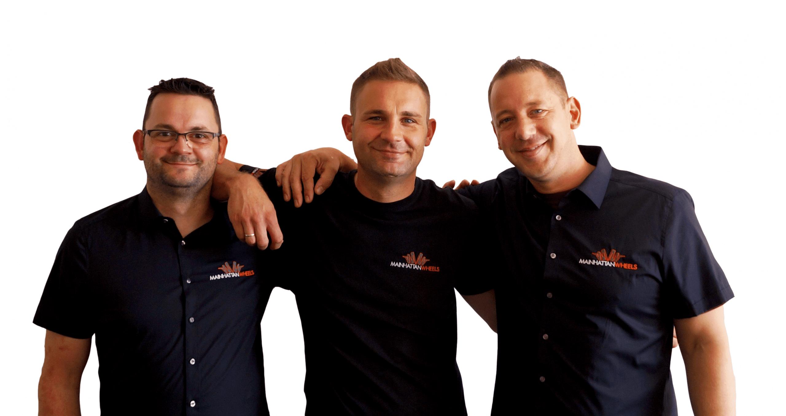 Team von Mainhattan Wheels - Beratung und Verkauf von Pulverbeschichtungsanlagen für Felgen
